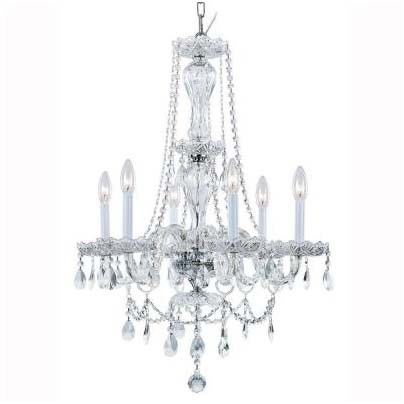 Hampton bay lighting reviews you need to read this hampton bay lake point 6 light chrome and clear crystal chandelier aloadofball Choice Image