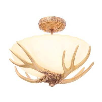 Antler 3-Light Semi-Flush Mount Light