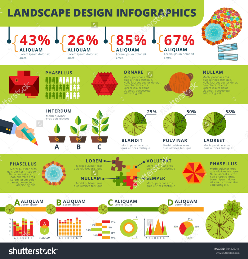 Stock-vector-landscape-architecture-and-garden-design-services-statistics-infographic-report