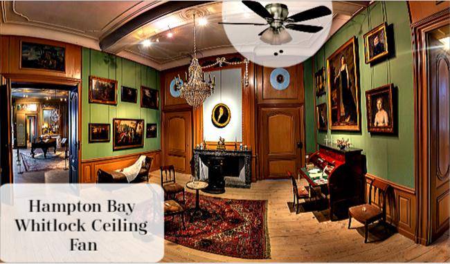 Hampton Bay Whitlock 44 inch Ceiling Fan in Old Room